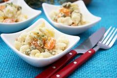 Salade van noedels Stock Foto's