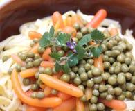 Salade van noedels Stock Foto
