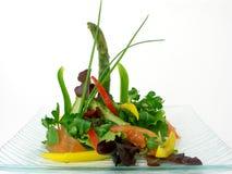 Salade van rauwe groenten en asperge 3 Stock Fotografie