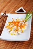 Salade van rijst stock afbeeldingen