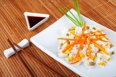 Salade van rijst stock foto's