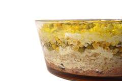 Salade van rijst, een erwten fnd graan Stock Afbeeldingen