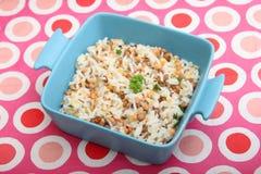 Salade van rijst en linzen Royalty-vrije Stock Foto's
