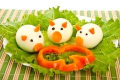 Salade van sla en ei. Royalty-vrije Stock Fotografie