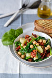 Salade van spinazie en kekers. Royalty-vrije Stock Foto