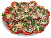 Salade van tomaat royalty-vrije stock fotografie