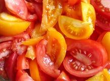 Salade van tomaten Stock Foto