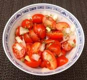 Salade van tomaten Stock Foto's