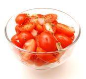 Salade van tomaten Stock Afbeelding