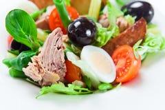 Salade van tonijn Royalty-vrije Stock Afbeeldingen
