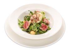 Salade van tonijn, greens en slabonen Royalty-vrije Stock Afbeelding