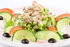Salade van tonijnvissen Royalty-vrije Stock Afbeeldingen