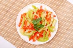 Salade van verse groenten stock foto