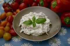 Salade van worst en komkommer Royalty-vrije Stock Afbeelding