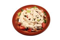 Salade verte avec le poulet Photo libre de droits