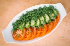 Salade verte dans une cuvette Image stock