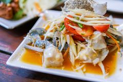 Salade verte de papaye Photo libre de droits