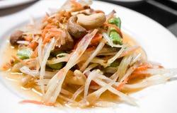 Salade verte de papaye Image stock