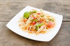 Salade verte de papaye Photos stock