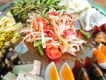 Salade verte de papaye Image libre de droits