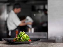 Salade verte de ressort frais Photographie stock