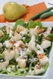 Salade verte fraîche avec la poire Photographie stock libre de droits