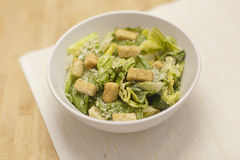 Salade verte fraîche de Caeser Photographie stock libre de droits
