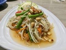 Salade verte fraîche de papaye image libre de droits