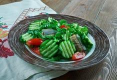 Salade végétale finlandaise avec des poissons Images libres de droits