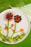 Salade voor jonge geitjes Stock Foto