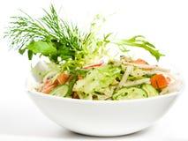 Salade in witte plaat Royalty-vrije Stock Foto