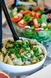Saladebar Royalty-vrije Stock Afbeeldingen