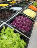 Saladebar Royalty-vrije Stock Foto