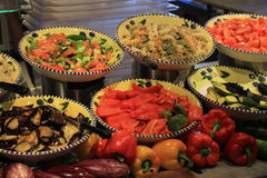 Saladebar Stock Foto's