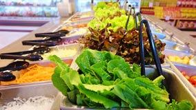 Saladebar, het gezonde voedsel Royalty-vrije Stock Foto
