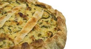 Saladecake met Italiaanse courgette en deegwarenbrisee Royalty-vrije Stock Afbeeldingen