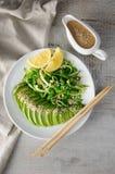 Saladechukka met komkommer en avocado royalty-vrije stock afbeelding