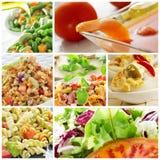 Saladecollage Royalty-vrije Stock Afbeeldingen