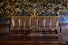 Saladei Pregadi, in het Paleis van de Doge, Venetië Royalty-vrije Stock Afbeeldingen