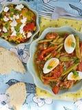 Salades de légumes Photographie stock libre de droits