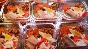 Salades do marisco Foto de Stock