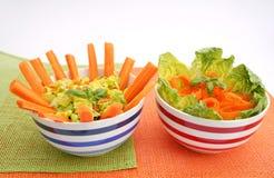 Salades fraîches Photographie stock libre de droits