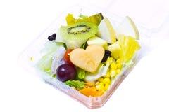Salades, groenten en vruchten Stock Foto