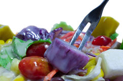 Salades, légumes et fruits. Photographie stock
