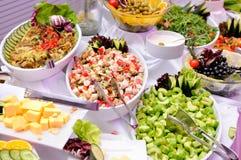 Salades op de partij Stock Afbeelding