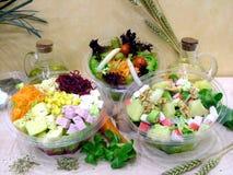 Salades saines photographie stock libre de droits