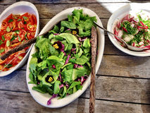 Salades van hierboven Stock Afbeelding