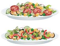 Salades végétales Photo stock