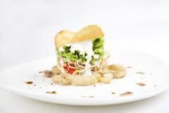Saladesnack stock foto's