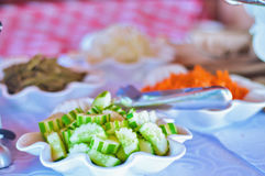 Saladier cubain de concombre Photos stock